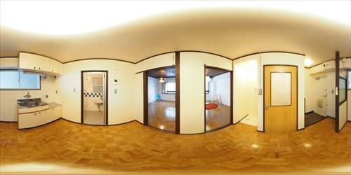 パノラマ:リノベーションミュージアム山王マンション303号室 - レトロロマン