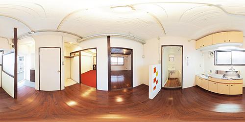 パノラマ:リノベーションミュージアム山王マンション609号室 - 和洋折衷