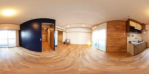パノラマ:リノベーションミュージアム新高砂マンション501号室 - Navy昭和レトロ空間に、アメリカンっぽいテイストをプラス。