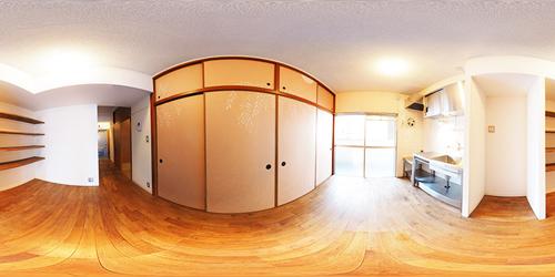 パノラマ:リノベーションミュージアム新高砂マンション607号室 - 日本画と暮らす