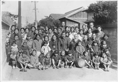 昭和19年、大名での集合写真