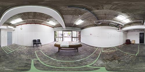 パノラマ:リノベーションミュージアム山王マンション103号室 - パン屋さんのビルと呼ばれる日を夢見て
