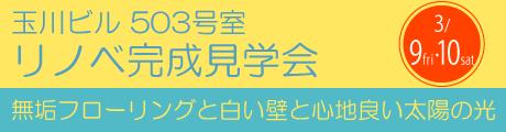 玉川ビル 503号室 リノベ完成見学会