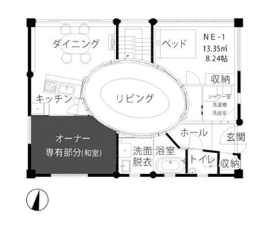 一宇邨 1階平面図