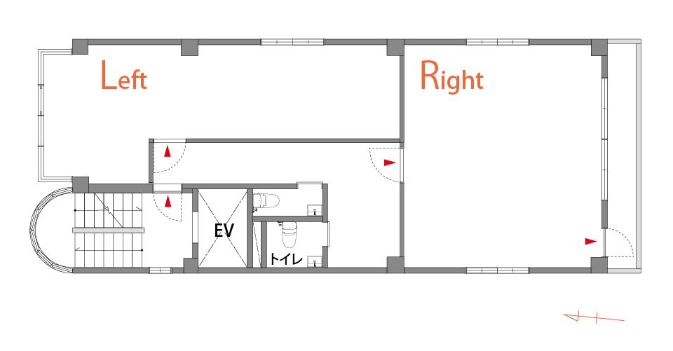 フロア図 4Rは入り口から入って右側の区画
