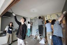 コーポ江戸屋敷 部屋づくりDIY実践プロジェクト 壁紙剥がし編